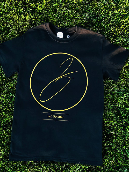 Black & Gold ZB Logo T