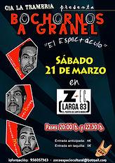 "LA TRAMERÍA Company acts in ZEC Center with the show ""BOCHORNOS A GRANE""."