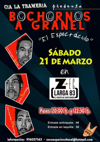 """La Compañía LA TRAMERÍA actua en Centro ZEC con el espectáculo """"BOCHORNOS A GRANE""""."""