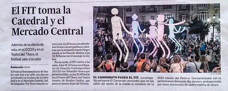Inauguration of the XXIX Ibero-American Theatre FESTIVAL (FIT) of Cadiz
