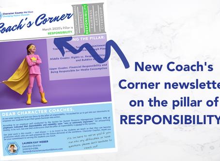 Coach's Corner Newsletter: Responsibility
