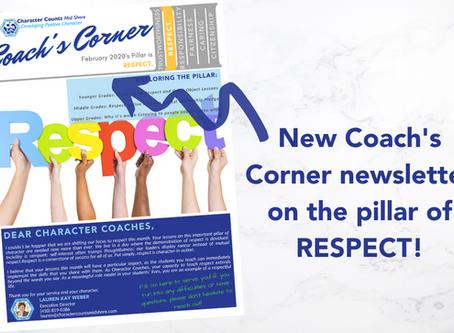 Coach's Corner Newsletter: RESPECT