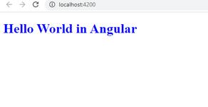 Hello World in Angular