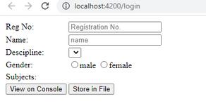 Registration Form in Angular