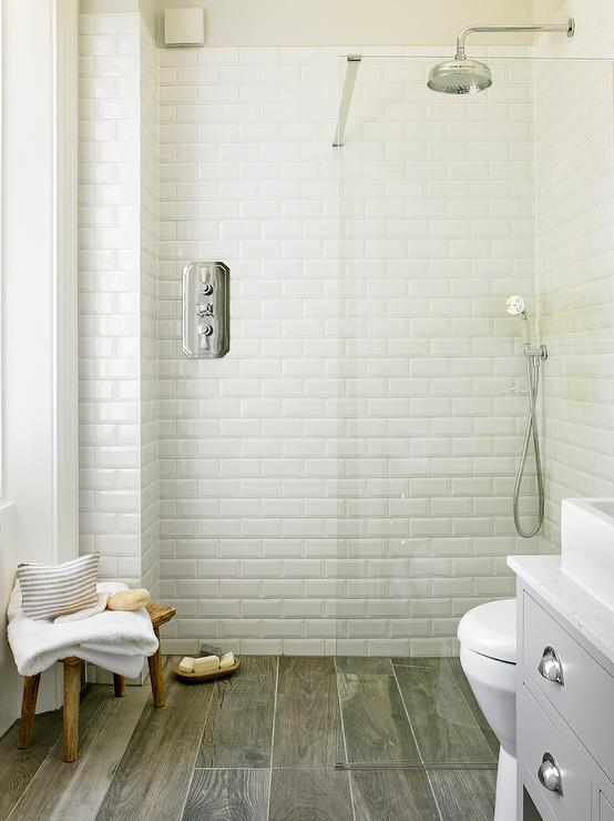 Wood Like Shower Floor Tiles