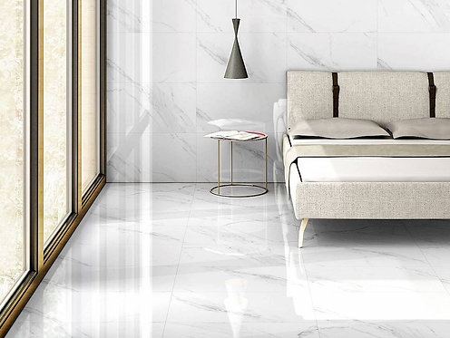 Naos Blanco Porcelain Tile Polished 32x32 from spain only at www.theflooringdistrict.com