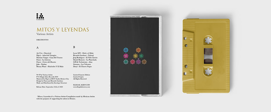 CASSETTE MOCK UP FRONT BANNER MITOS Y LE