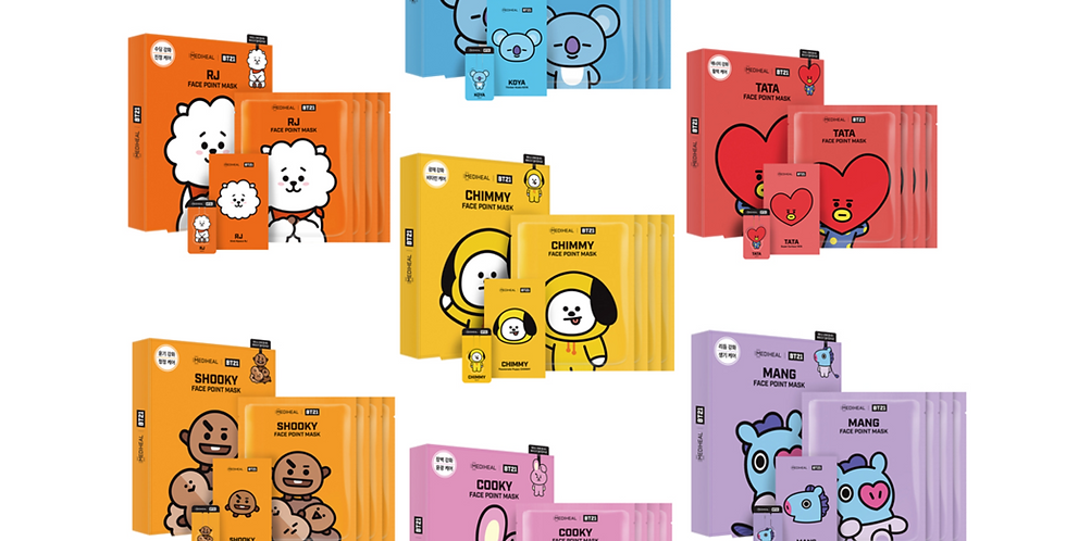 BT21 Face Point Masks