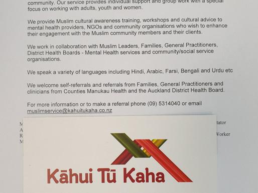 Kāhui Tū Kaha (working together-stand strong)