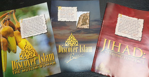Leaflets from Discover Islam, now available for distribution.