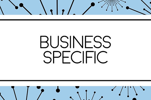 Business Specific Marketing Blueprint