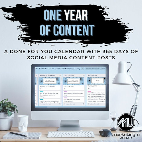 One Year Of Done For You Social Media Content