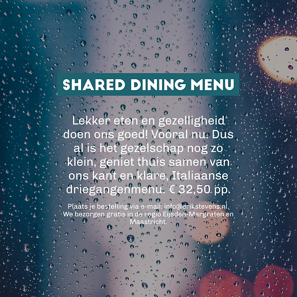 Shared Dining Menu