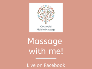 Massage with me! LIVE Mini-Massage Tutorials. Available every Monday evening on Facebook.