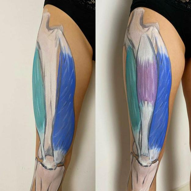 Body paint anatomy