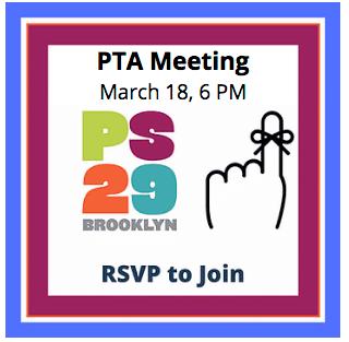 PTA Meeting, Thursday 3/18 @ 6pm