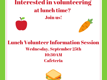 Interested in Volunteering at Lunch Time?