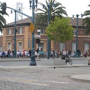 Blocking Traffic for SF Marathon