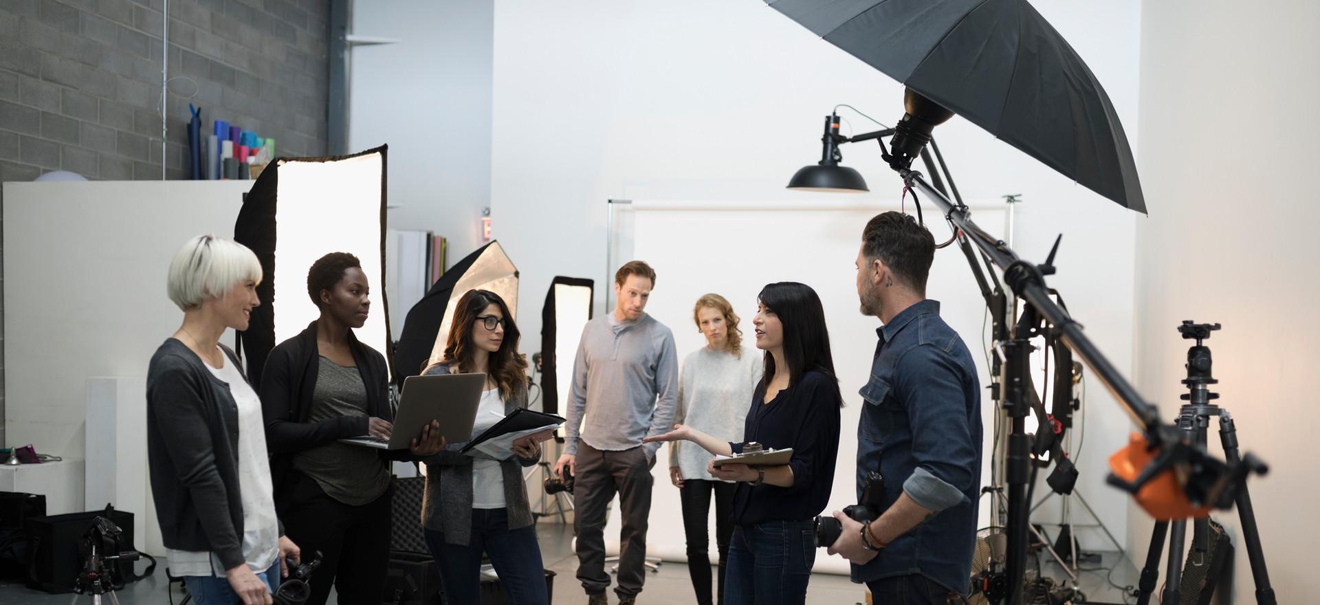 Réunion d'équipe de tournage