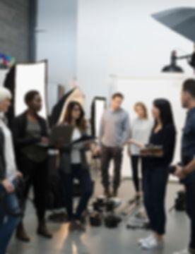 Reunião da equipe de produção