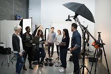 Reunión del equipo de producción