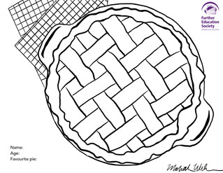"""Pie in the FESA"" Colouring Page"
