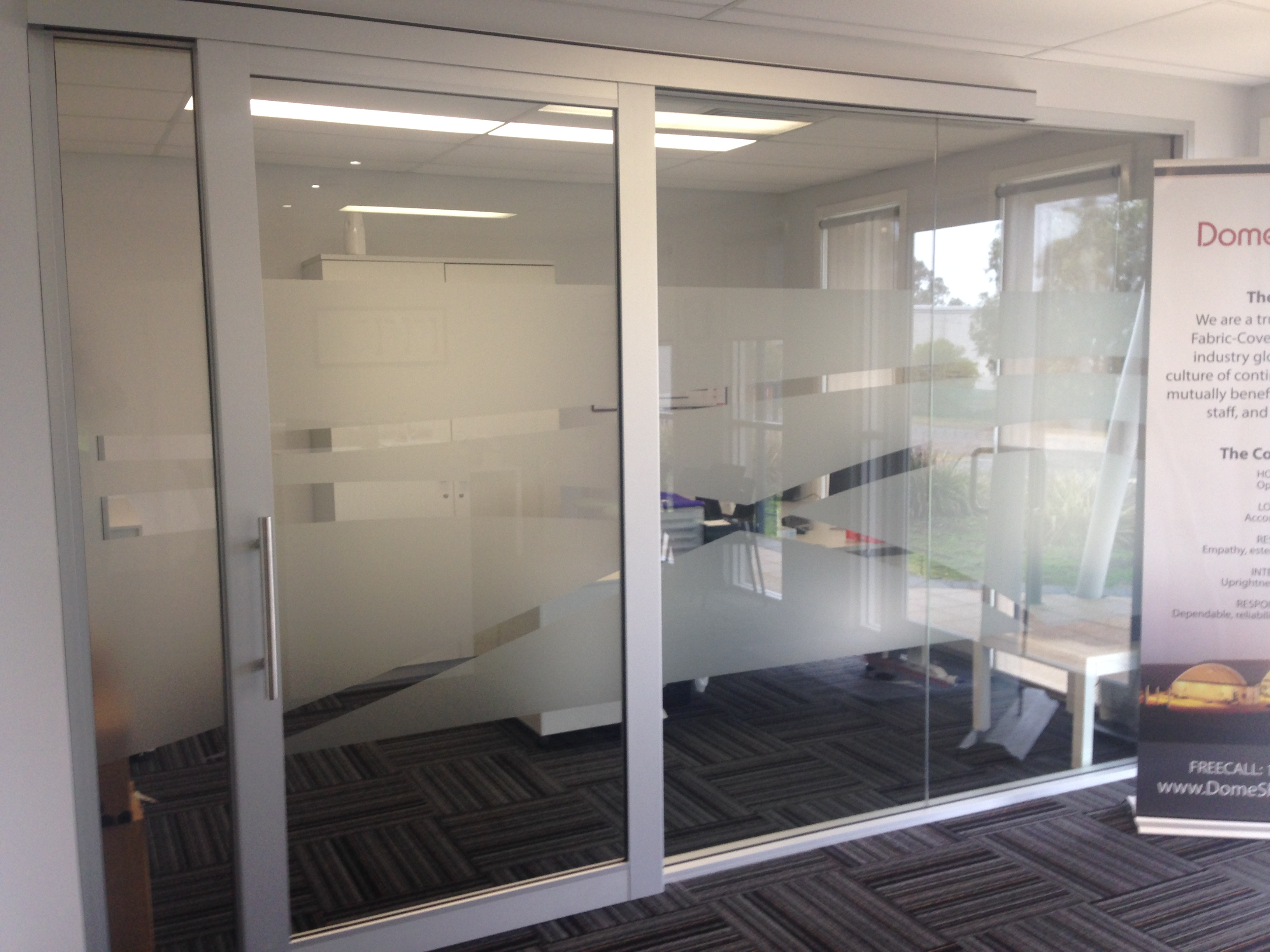 Frosted window film bedford vibe