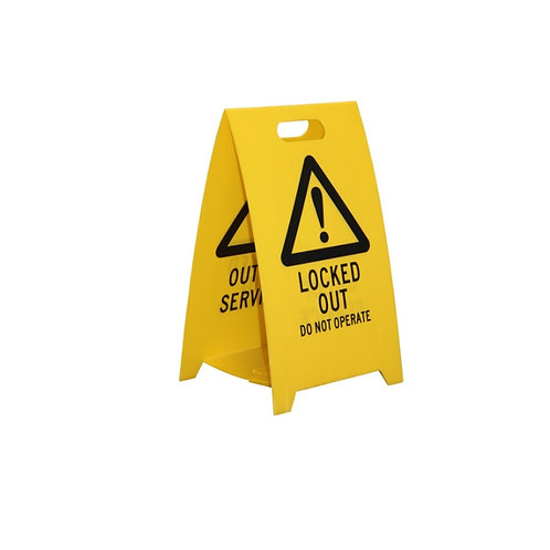 YELLOW EASY ABOARD SIGN - 3MM RITEFLUTE