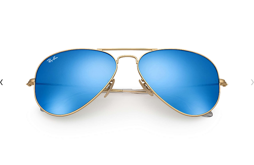Ray-Ban RB3025 金框藍色水銀鏡片 Aviator Flash Lenses 太陽眼鏡