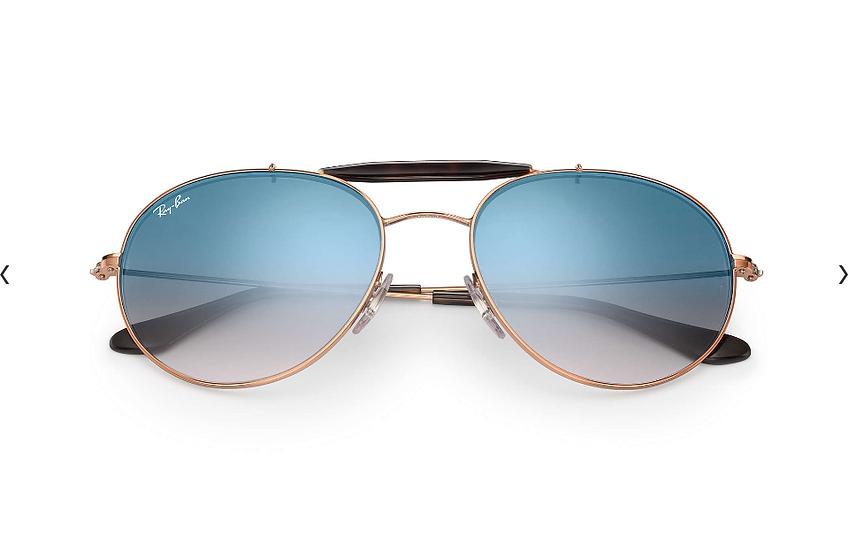Ray-Ban RB3540 銅色框淺藍色漸變鏡片 太陽眼鏡