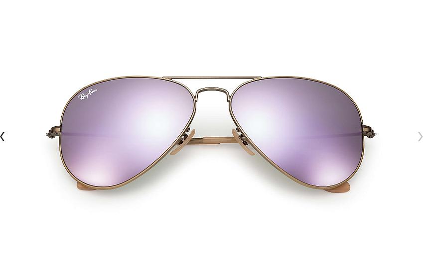 Ray-Ban RB3025 銅色框粉紫色水銀鏡片 Aviator Flash Lenses 太陽眼鏡