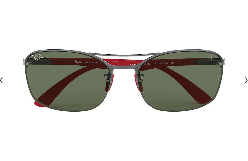 Ray-Ban X Scuderia Ferrari Limited Collection RB3617M 槍紅框墨綠色經典鏡片 太陽眼鏡