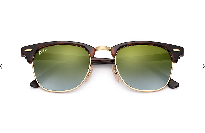 Ray-Ban RB3016 玳瑁啡色綠色漸變鏡片 Clubmaster Flash Lenses Graient 太陽眼鏡