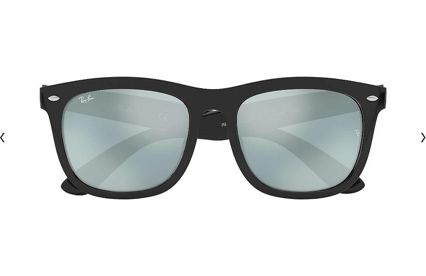 Ray-Ban RB4260D 黑框銀色水銀鏡片 太陽眼鏡