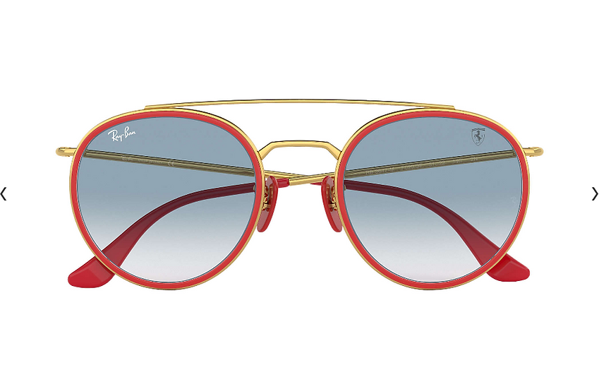 Ray-Ban X Scuderia Ferrari Limited Collection RB3647M 紅金色框淺藍漸變鏡片 太陽眼鏡
