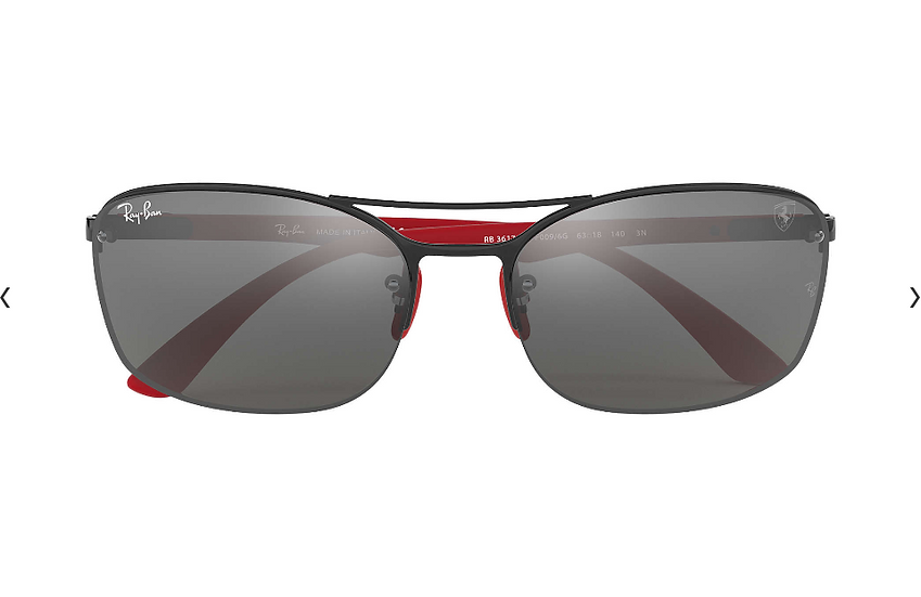 Ray-Ban X Scuderia Ferrari Limited Collection RB3617M 黑紅框灰色水銀鏡片 太陽眼鏡
