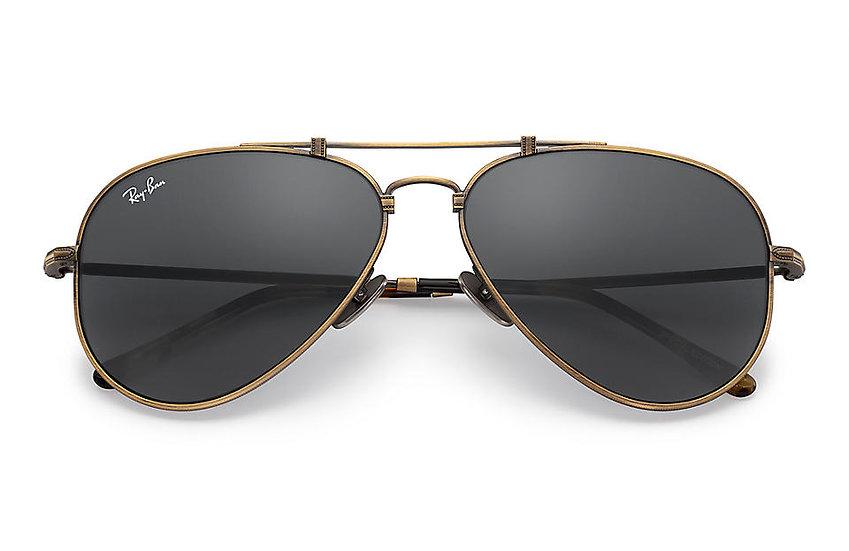 Ray-Ban RB8125 古銅色框灰色鏡片 AVIATOR TITANIUM 鈦金屬太陽眼鏡