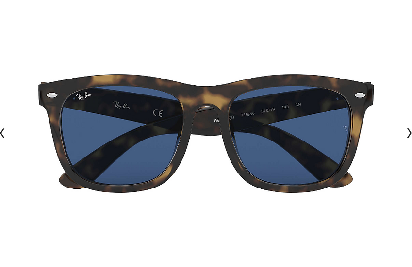 Ray-Ban RB4260D 玳瑁啡色框藍色鏡片 太陽眼鏡