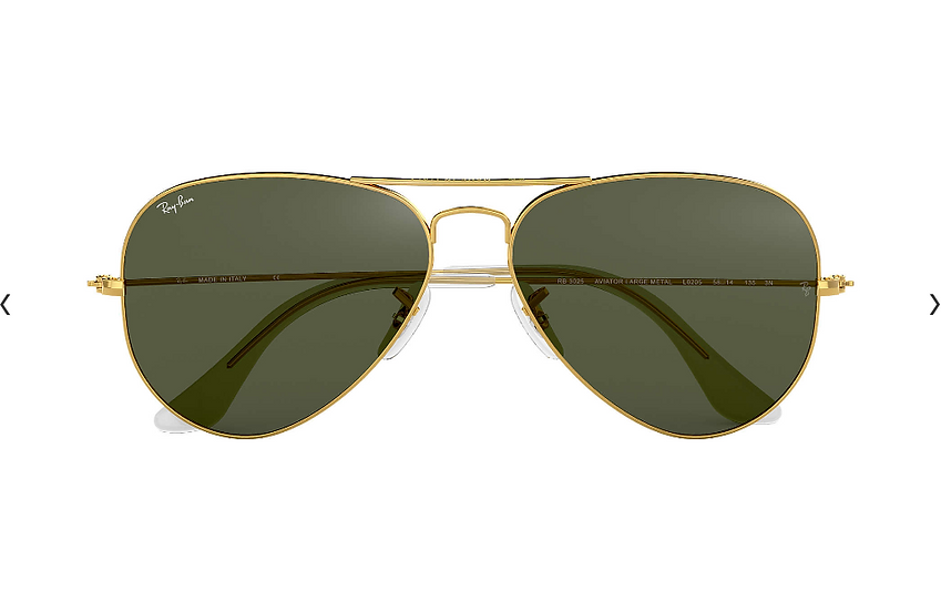 Ray-Ban RB3025 金框墨綠鏡片 Aviator Classic 太陽眼鏡