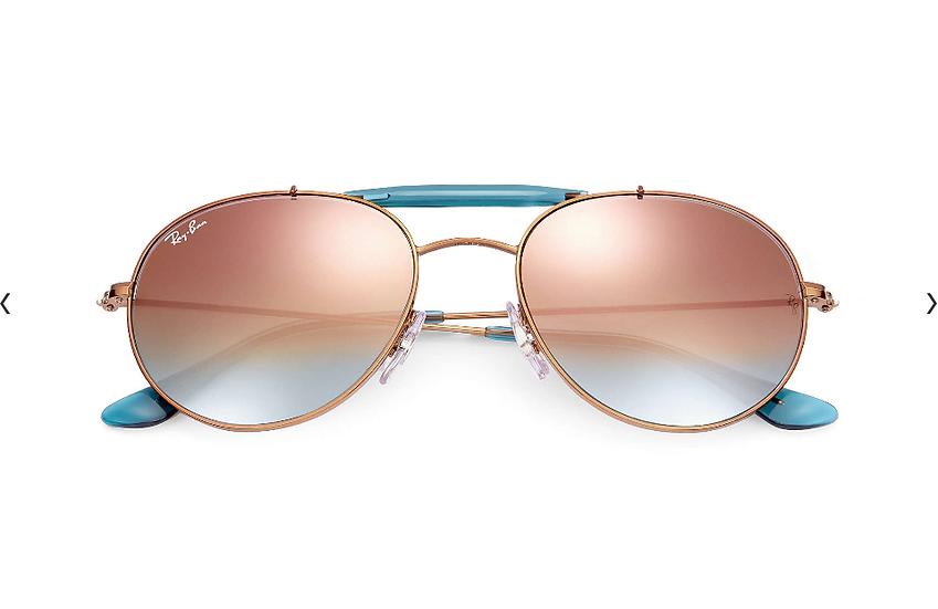 Ray-Ban RB3540 青銅色框銅色漸變水銀鏡片 太陽眼鏡