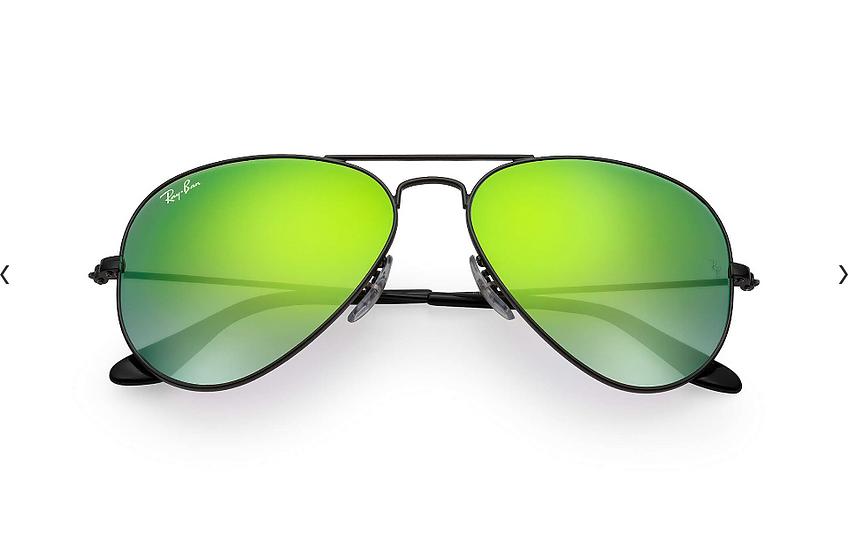 Ray-Ban RB3025 黑框綠色漸變鏡片 Aviator Flash Lenses Gradient 太陽眼鏡