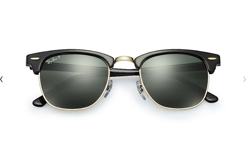 Ray-Ban RB3016 黑色墨綠偏光鏡片 Clubmaster Classic Polarized 偏光太陽眼鏡