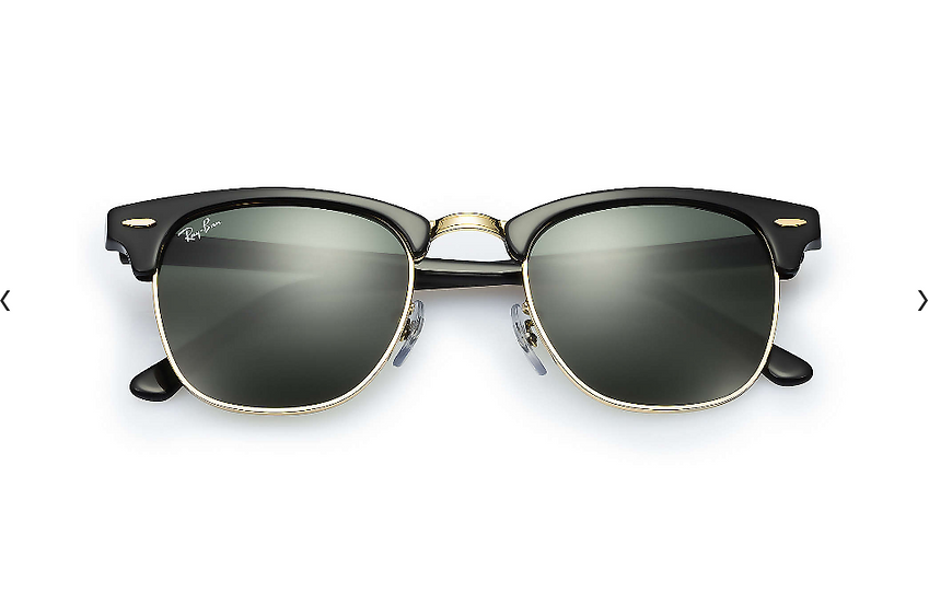 Ray-Ban RB3016F 黑色墨綠色鏡片 Clubmaster Classic Low Bridge Fit 太陽眼鏡