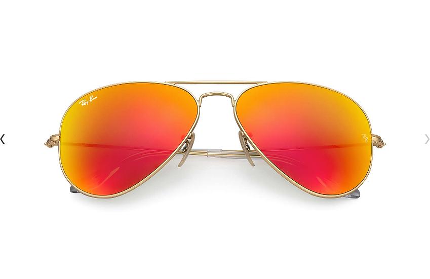 Ray-Ban RB3025 金框橙色水銀鏡片 Aviator Flash Lenses 太陽眼鏡