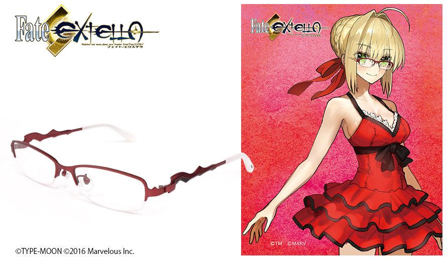 Fate/Extella眼鏡系列 ネロ・クラウディウス造型光學眼鏡 送1.56不反光度數鏡片