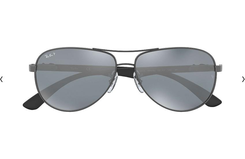 Ray-Ban 碳纖系列 RB8313 槍色框灰色偏光鏡片 太陽眼鏡