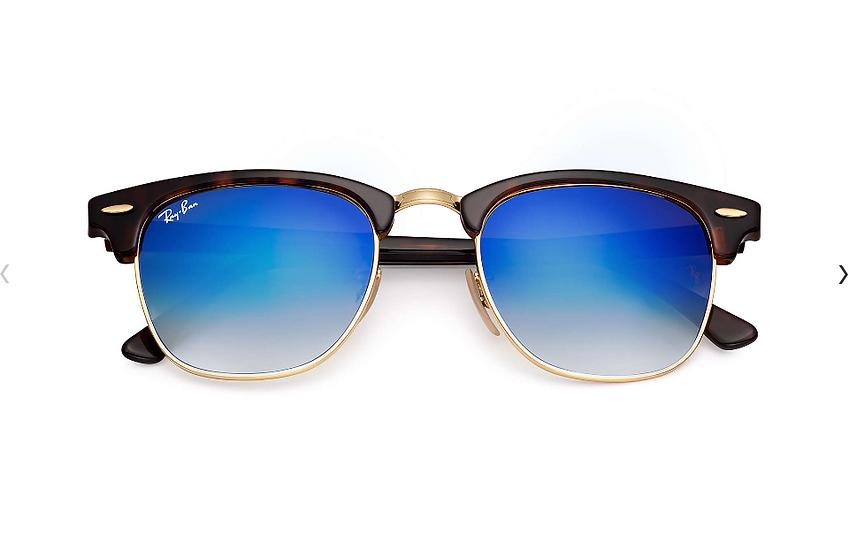 Ray-Ban RB3016 玳瑁啡色藍色漸變鏡片 Clubmaster Flash Lenses Gradient 太陽眼鏡