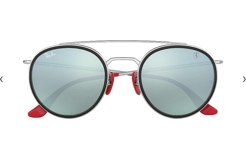 Ray-Ban X Scuderia Ferrari Limited Collection RB3647M 銀黑色框銀色漸變鏡片 太陽眼鏡