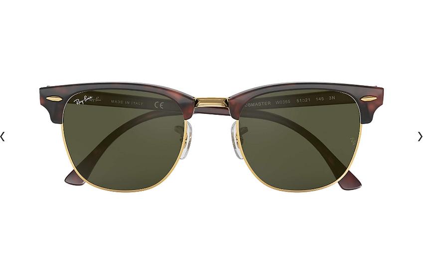 Ray-Ban RB3016F 玳瑁啡色墨綠鏡片 Clubmaster Classic Low Bridge Fit 太陽眼鏡