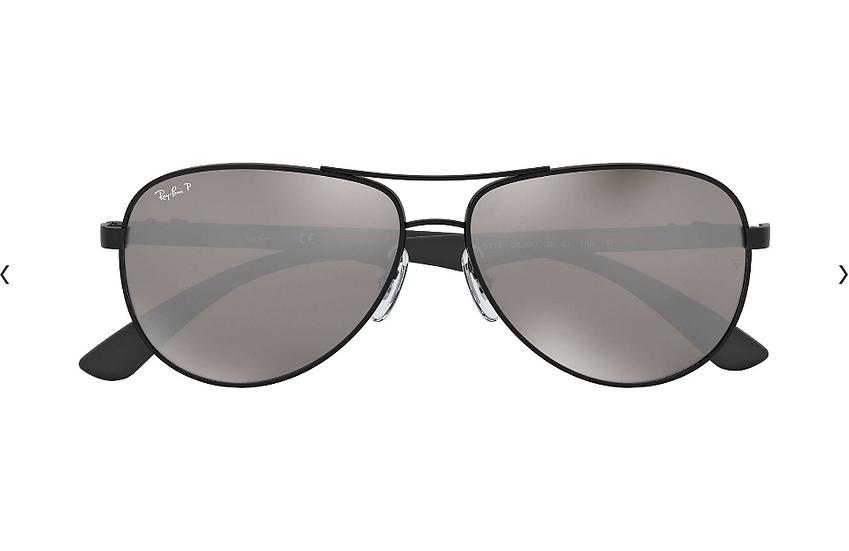 Ray-Ban 碳纖系列 RB8313 黑框灰色偏光鏡片 太陽眼鏡